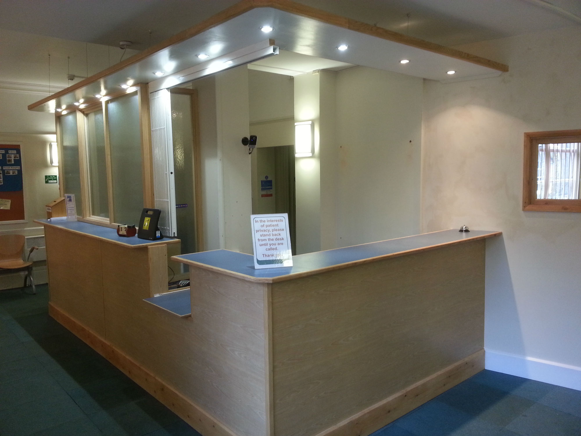 New Reception Desks At Doctors Surgery