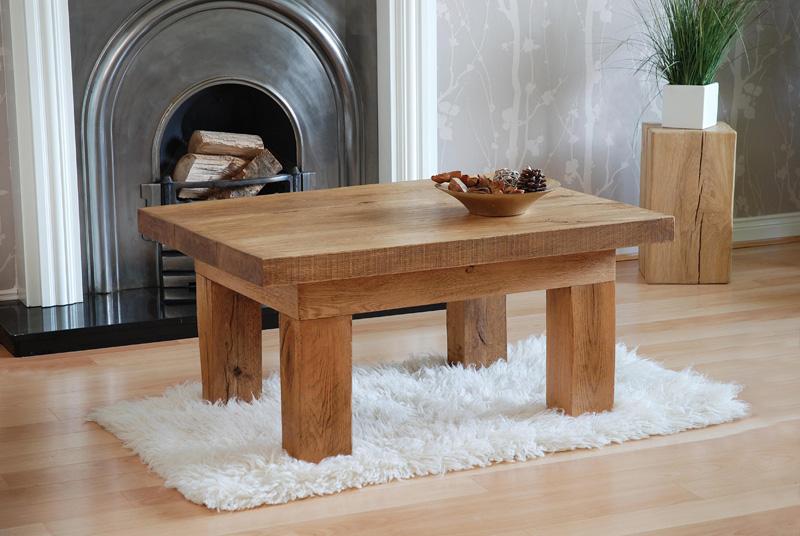 Outdoor Oak Sleeper Joinery U003e Plank Coffee Table